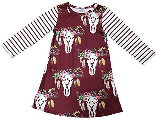 BluNight Collection Big Girl Dress Kids Floral Stripe