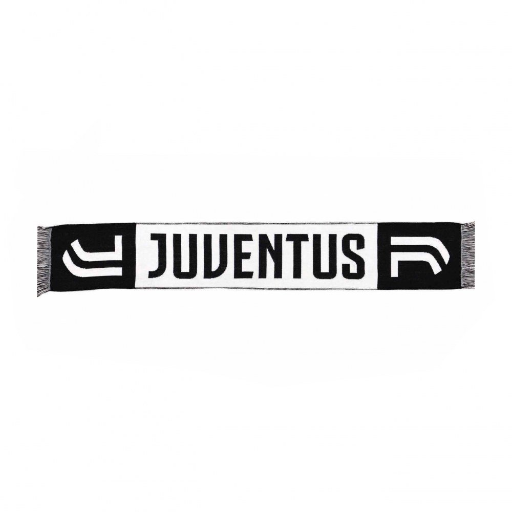 Offizielle Juventus FC Schal Fanschal Jacquard Typ Neues Logo