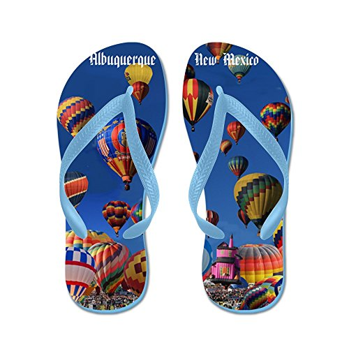 Cafepress Albuquerque - Flip Flops, Grappige String Sandalen, Strand Sandalen Caribbean Blue