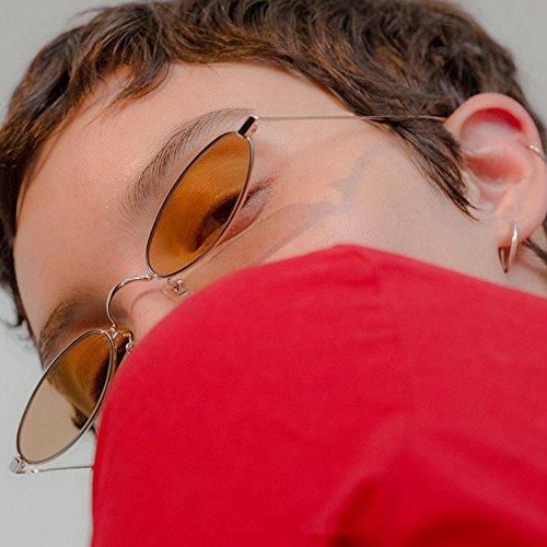 ovaladas Delgado Mujeres Fram Ojo pequeñas Sol Hombres ovaladas Retro Caramelos Metal Sol de de Gafas Metal Gold Marco FOONEE Grey de Metal de Gold Gafas de para Lens Lens Colores Grey de Gato Fram wxOTWzHF