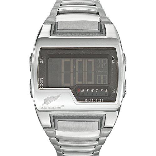 All Blacks 680107 - Reloj Hombre - Cuarzo Digital - Reloj Negro - Pulsera Metal Plata: Amazon.es: Relojes