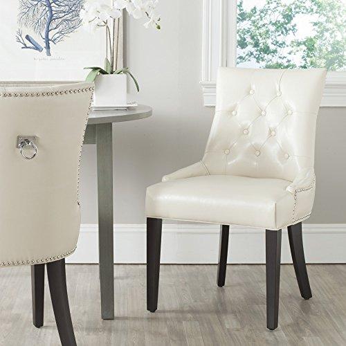 (Safavieh Mercer Collection Harlow Ring Chair, Flat Cream, Set of 2 )