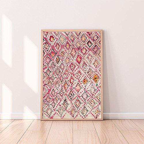 Printable Home Decor (Eclectic Home Decor,Boho Wall Art Prints, Moroccan Rug, Pink Wall Art, Eclectic Wall Art, Modern Abstract Art, Printable Wall Art, Bohemian wall Art,Watercolor)