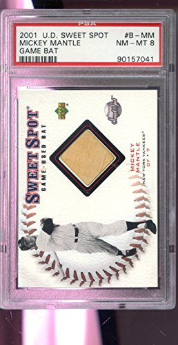 2001 Upper Deck Sweet Spot Mickey Mantle Game-Used Bat Baseball Graded Card (2001 Upper Deck Sweet)