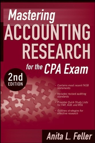 Mastering Accounting Research for the CPA Exam by Anita L. Feller (2008-06-10)