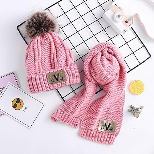 D'hiver Mignonne Enfants Rose Set Tricoté Chaud Écharpe Garçons Costume Chapeaux Acmede Bébés Filles dgqYdw