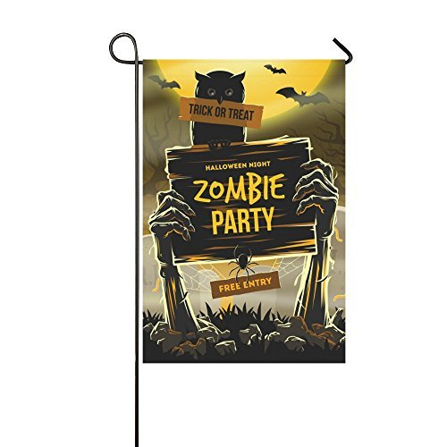 Halloween Dead Man's Arm Double Sided Polyester Garden Flag