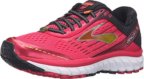 brooks-womens-ghost-9-azalea-black-cyber-yellow-running-shoes-8-bm-us
