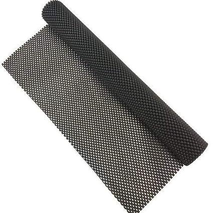 DESDO Multipurpose Textured Strong Anti-Slip Eva Mat for Car, Fridge, Bathroom, Kitchen, Drawer (100 X 60 cm, Black)