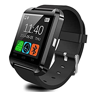 Pandaoo U8 Bluetooth Smart Watch for Android Smartphones - Black