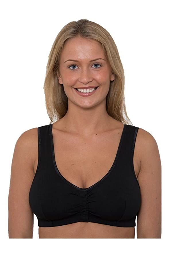 1ca2c072b11 Front Velcro Fastening Easy Fasten Bra Post Surgery Sleep Multi Cup Soft  Non Wire  Amazon.co.uk  Clothing