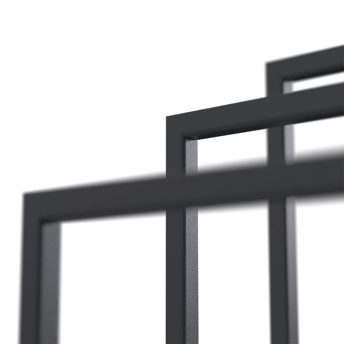 Anthrazitgrau HLMH-02-86-45-7016 HOLZBRINK Metall Handtuchhalter f/ür Badezimmer Kleiderst/änder Freistehender Handtuchst/änder mit 2 Stangen 86x45x30 cm HxBxT