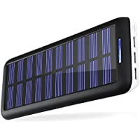 Portable Chargers KEDRON 22000 Solar Charger 22000mAh External Battery Pack 2 Port Input & 3 Usb Output Power Banks or iPhone, iPad and Samsung Galaxy and More