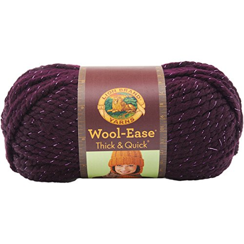 Galaxy Wool Sweater - Lion  640-305 Wool-Ease Thick & Quick Yarn , 97 Meters, Galaxy