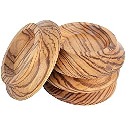 Upright Piano Caster Cups ,Solid Wood Furniture,Piano Caster Cups - Non-Slip & Anti-Noise Foam (zebra wood)