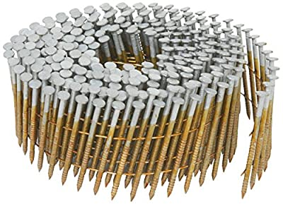 Hitachi 1-1/4-Inch x 0.092-Inch Full Round-Head Ring Shank Hot-Dipped Galvanized Wire Coil Siding Nails