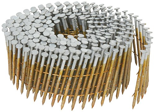 Hitachi 13363 1-3/4-Inch x 0.092-Inch Full Round-Head Ring Shank Hot-Dipped Galvanized Wire Coil Siding Nails, 3600-Pack by Hitachi