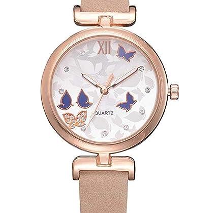 Limpieza de venta! Relojes para mujer, ICHQ Clearance analógico en venta mariposa patrón de
