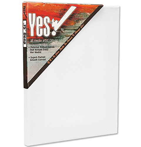 Yes! Artist All Media 11oz Primed Cotton Pre Stretched Art Canvas 3/4