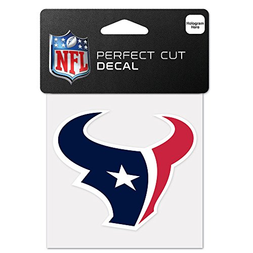NFL Houston Texans 63047011 Perfect Cut Color Decal, 4