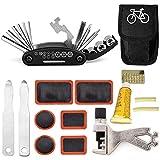 Mordely Bike Repair Tools Kits - 16 in 1 Bicycle Essential Multi Tools Set, Portable Bike Kit Repair Set, Bike Tool Bicycle Repair Kit Bicycle Tools Tire Patch Levers Bicycles (Repair Tools Kits)