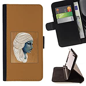 Jordan Colourful Shop - Egyptian Goddess Woman Brown Art For Apple Iphone 5C - Leather Case Absorci???¡¯???€????€?????????
