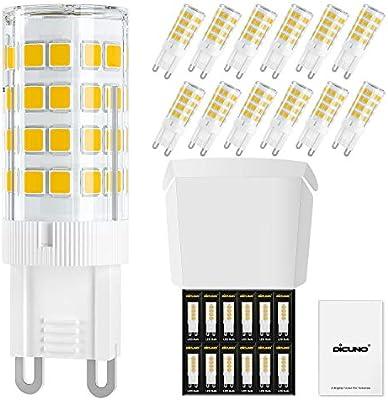 DiCUNO Bombillas LED G9 4W, Equivalentes 40W bomlillas halógenas ...