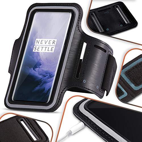 NAmobile beschermhoes compatibel met OnePlus Nord mobiele telefoon hoes zwart looptas joggen fitness case armcase…