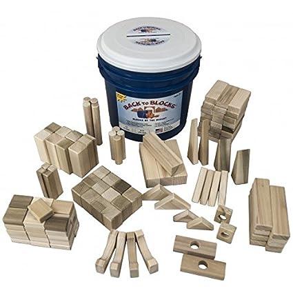 Back To Blocks Crazy Constructor Wooden Building Blocks For Kids | 120  Piece Wooden Block Set