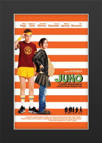 Juno Movie Movie Art Print - Movie Memorabilia - 11x17 Poster FRAMED, Vibrant Color, Features Ellen Page, Michael Cera, Jennifer Garner, Jason Bateman, Allison Janney, J. K. Simmons.]()