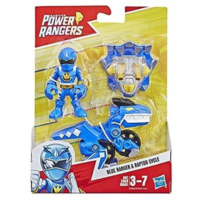 Playskool Heroes Power Rangers Blue Ranger and Raptor Cycle: Toys & Games