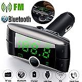 USHOT Wireless Bluetooth FM Transmitter Modulator Car Kit MP3 Player Dual USB Charger Rose Gold One Size
