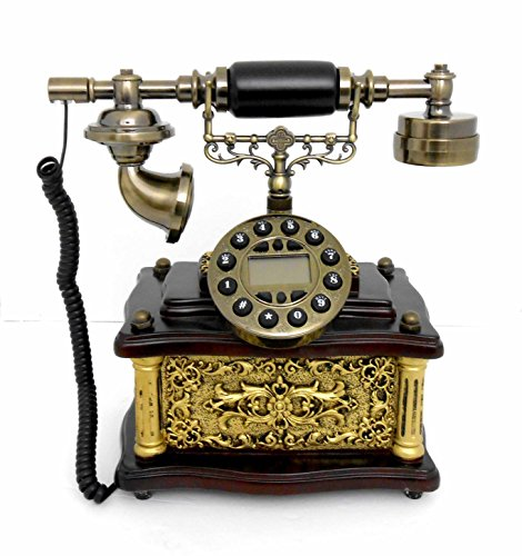 Nabil's Gift Shop Retro Style Push Button dial Desk Telephone/Home Decorative # 1717