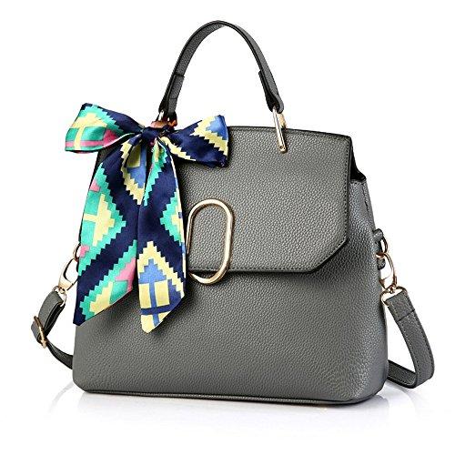 Xuanbao Bolso de Mujer Style Bow Simple Small Bolso de Mano Chain Chain Diagonal Handbag (Color : Verde) Gris Oscuro