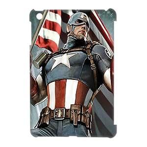 3D Print Hot Marvel Comics Superhero Series&Captain America Case Cover for Retina iPad Mini(iPad Mini 2)- Personalized Hard Cell Phone Back Protective Case Shell-Perfect as gift
