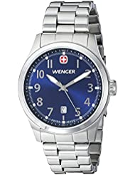 Wenger Mens 01.0541.118 Terragraph 3H Analog Display Swiss Quartz Silver Watch