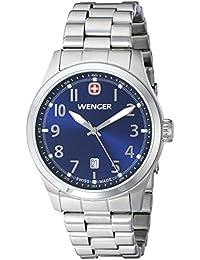 Men's 01.0541.118 Terragraph 3H Analog Display Swiss Quartz Silver Watch