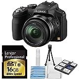 Panasonic Lumix DMC-FZ200 12.1 MP Digital Camera with CMOS Sensor & 24x Optical Zoom - Black + Lexar Platinum II 16 GB Secure Digital High Capacity (SDHC) + 6 Piece Deluxe Starter Cleaning Kit Bundle