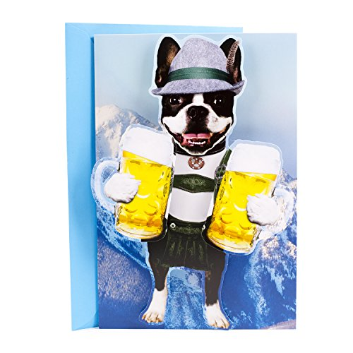 Hallmark Funny Father's Day Card (Beer Dog in Lederhosen)