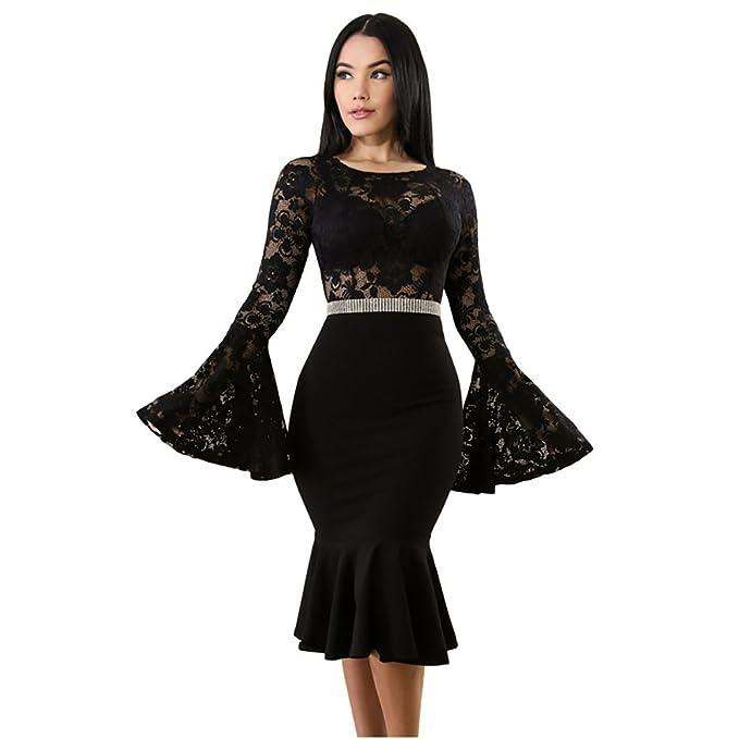 Vestidos de Fiesta de Noche Elegantes De Mujer Encaje ...