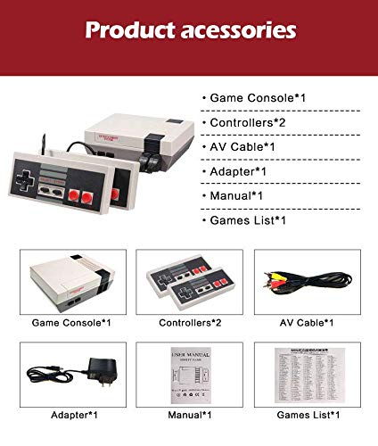 DigitCont Plug & Play Classic Mini Console, Built-in with 620 Classic Retro Games Dual Players Mode Console PAL NTSL Support TV Output Bring Back Childhood Memory by DigitCont (Image #6)