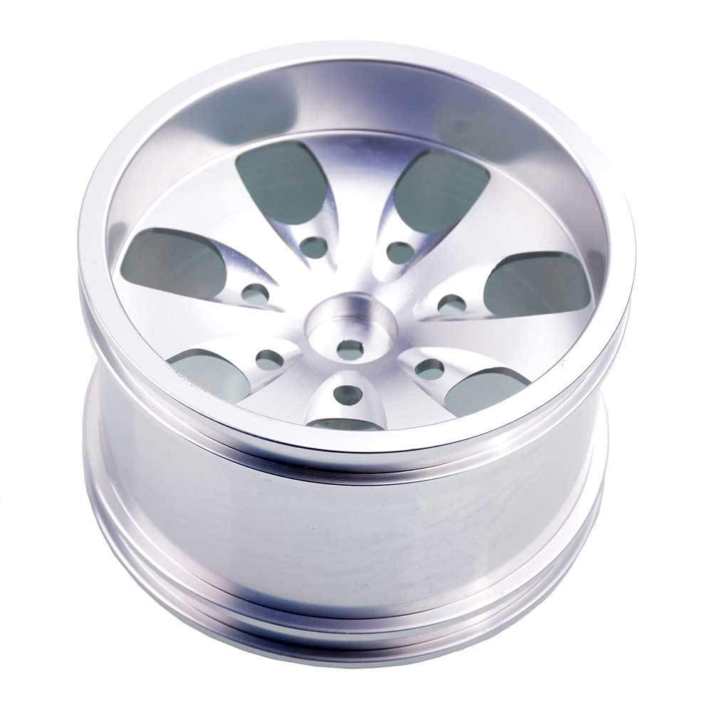 Toyoutdoorparts RC 08008N Silver Alumiunm Wheel 4P Rims D:78mm W:50mm for HSP 1:10 Monster Truck by Toyoutdoorparts (Image #2)