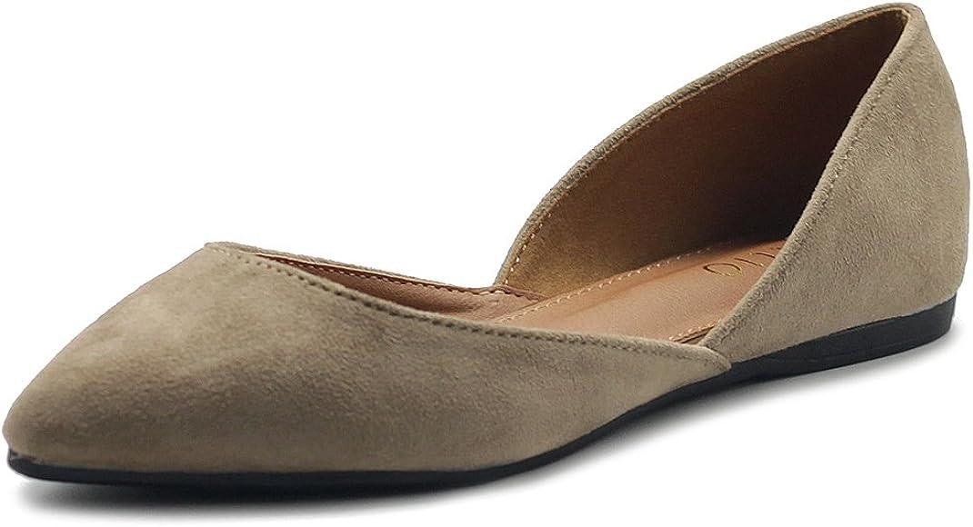 Ollio Women's Shoes Faux Suede Slip On