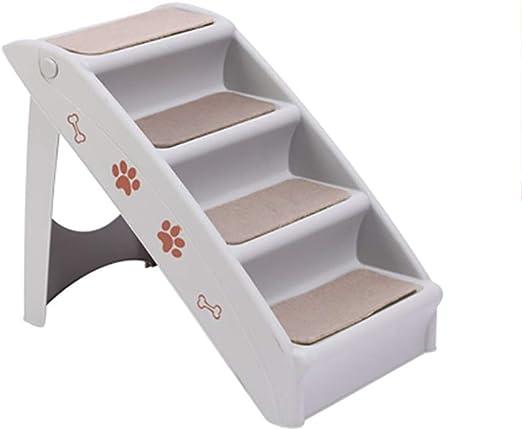 Escalera para Mascota ABS plástico Plegable for Perros for Personas Mayores o discapacitados Mascotas - 38X47.5X76cm - Gris/marrón Color (Color : Light Gray): Amazon.es: Productos para mascotas