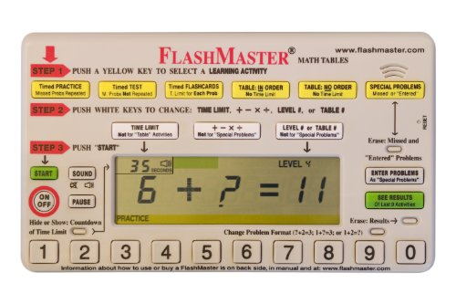Flashmaster: Handheld Computer for Mastering All Basic ''Math Facts'' that Makes Flashcards Obsolete by FlashMaster (Image #3)