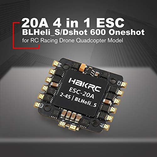 Wikiwand 20A 4 in 1 BLHeli_S/Dshot 600 Oneshot ESC for RC Racing Drone Quadcopter Model by Wikiwand (Image #4)