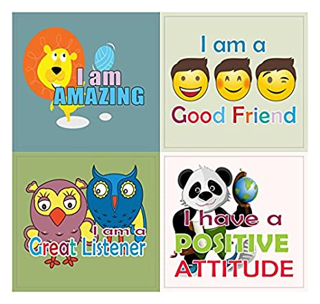 Inspiring Word Art Decal Surface Stickers Creanoso Positive Affirmation Words for Kids Stickers -10 Sheets Kids Girls Teens Affirmative Words Sticky Cards Pack Great Sticker Gifts for Boys