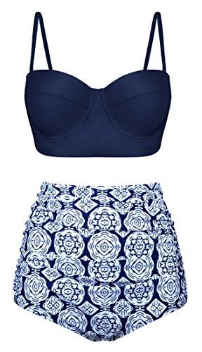 Fancyskin Push Up Bikinis Swimwear Swimsuits for Women Two Pieces, Multi-Colored, US8-10=Tag Size XL