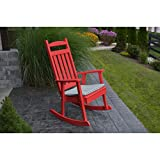 A&L Furniture Company Classic Recycled Plastic Porch Rocking Chair