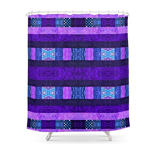 "Society6 Quilt Top - Deep Purple Shower Curtain 71"" by 74"""